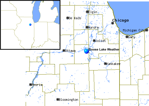 Location of Goose Lake Weather